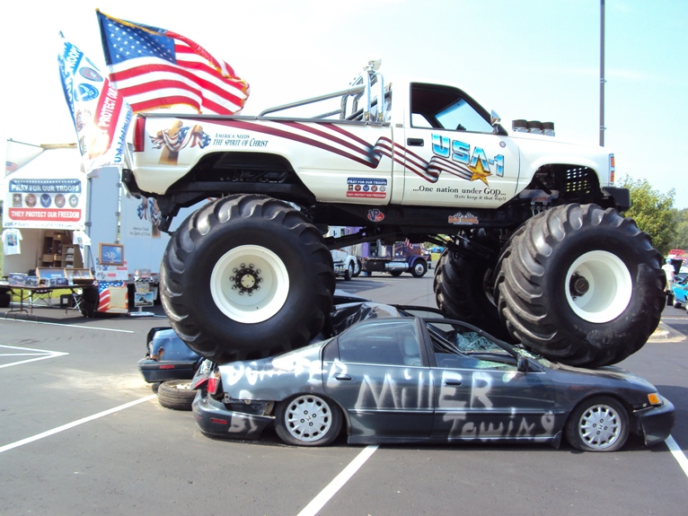 Thanks to Andy Reineke and Miller Towing for the wrecker display and supplying and removing the crush cars!